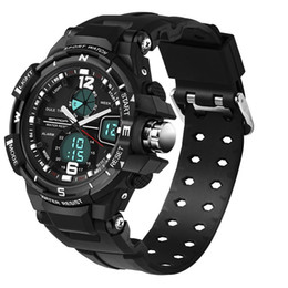 Wholesale Dive Watch Men For Military - clock brand SANDA 289 Sport Watch Men Diving Camping Waterproof Clock For Mens Watches Top Brand Luxury Military relogio masculino montre