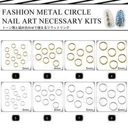 Wholesale Studs For Nail Art - Wholesale- Hot Fashion 150pcs lot gold silver nail round ring circle metal studs jewerly for nail art
