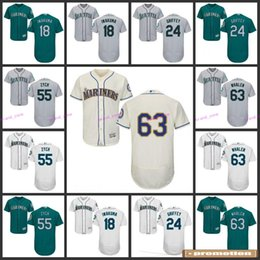 Wholesale Seattle Mariners Ben Gamel Casey Fien Yovani Gallardo Paul Fry Custom Jerseys Cool Flex Base Baseball Jerseys Stitched Logos