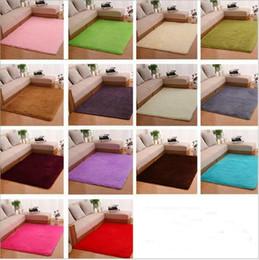 Wholesale Cheap Cartoon Rugs - Hot Shaggy Area Rugs and Carpet Super Soft Bedroom Carpet Rectangle Cheap Children's cartoon game carpet tea table Carpets(50*80cm)