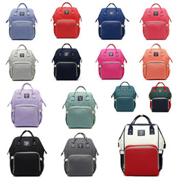 Wholesale Large Diaper Bag Tote - Diaper Bags Mommy Backpack Fashion Mother Maternity Nappies Bags Nursing Travel Large Oxford Fabric Waterproof Bags