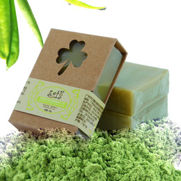 Wholesale Matcha Wholesale - 100g Organic Handmade Matcha Green Tea Powder Soap Whitening Moisturizing Cleansing Soap Remove Acne Cleansing Bath Bar Soap