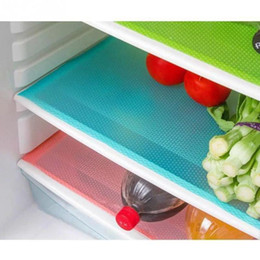 Wholesale Pc Refrigerator - Wholesale- 4 pcs set Fashion Refrigerator pad Antibacterial antifouling Mildew Moisture absorption Pad Refrigerator Mats Fridge Magnet