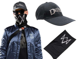 Wholesale Holiday Watches - Watch Dogs 2 Mask Adien Pearce Watch Dogs Mask Game Hero Cosplay Black Mask Cosplay