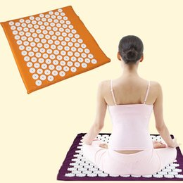 Wholesale Automatic Inflatable Cushion - Wholesale-2016 Factory price Acupuncture massage mat Massager cushion for shakti acupressure acupuncture mat yoga mat 68*42cm