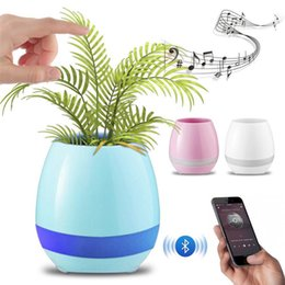 Wholesale Portable Bluetooth Audio - Music Flower Pot Bluetooth speaker Creative Smart Office Decoration Plastic Green Plant Music Vase Plant Touch Induction K3 Flowerpot Sensor