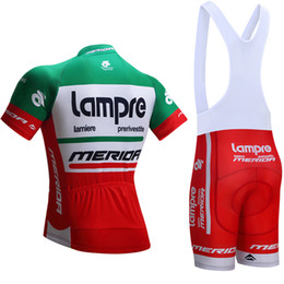 Wholesale lampre cycling - team 2017 Green lampre merida cycling jersey mens team pro cycling wear Ropa Ciclismo summer breathable GIANT bike Maillot Culotte