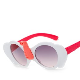 Wholesale Elephant Frame - Elephant trunk Kids Sunglasses Boy Girls Cool Rubber Casual Glasses Out Door Eyewear Sport Shades For Girls Boys Goggle Baby With Case