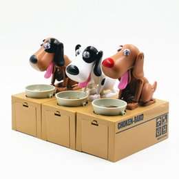 Wholesale Money Saving Pots - CHOKEN-BAKO Cute My Dog Model Piggy BANK Eat Eatten Bank Money Save Pot Saving Coin Box Creative Gift can't resist Taste So Good I Love Mony