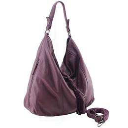 Wholesale Executive Bags - Wholesale- 2017 hot sale fashion executive large genuine leather fringe bags high quality large hobo soft natural leather handbag