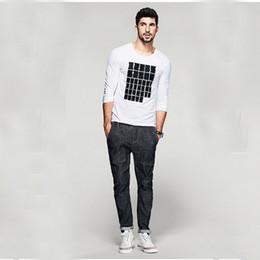 Wholesale Funny Men Briefs - Long Sleeve t Shirt Men Cotton Funny t Shirts Fitness Clothing Men's Briefs Bodybuilding Orologio Uomo o-Neck Tshirt 50A0260