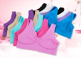 Wholesale Best Sexy Ladies - Best Quality Sexy Underwear Seamless Ladies ahh Bra Bust Shaper Sizes Sport Yoga Bra Microfiber Pullover Bra Body Bust Shape Shaper OPP bag