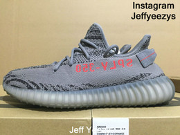 Wholesale Synthetic Shoes - Not Authentic shoes Jeff 350 V2 Beluga 2.0 Bred Zebra Cream White Oreo Blue Tint Semi Frozen Baby come on cop these First class Walkers