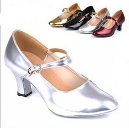 Wholesale Classic Latin Dancing Shoes - Women Standard Dance Shoes ClASSIC Ladies Ballroom Dance Shoes Soft Outsole Modern Dance 5.5cm High Heel Women's Shoes Jazz Sneakers Latin