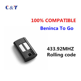 Wholesale Garage Remote Control Free Shipping - Wholesale- DHL Free shipping! 433M Wireless Remote Control BENINCA TO.GO2WV For Garage Door