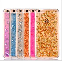Iphone platinum онлайн-Bling Platinum Soft TPU Clear Case для iPhone 7 7 plus фрагмент блеск золотой серебряный порошок Золотой лист фольги Крышка для iPhone 6 6 S plus
