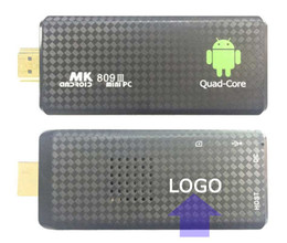 Wholesale Custom Usb Sticks - 10PCS Custom Made MK809 Quad Core TV Box Stick Media Player Google Android 5.1 RK3229 2GB RAM 8GB WIFI Bluetooth 1080P HDMI Smart TV Dongle