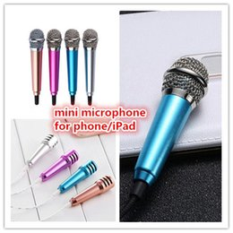 Wholesale Ipad Mini Small - Creative portable Mini Small Metal Cell Phone microphones for mobile phone iPad laptop wholesale mini microphone zpg258