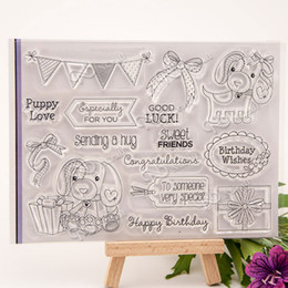 Wholesale Lovely Photo Albums - Wholesale- Lovely dog Clear Silicone Stamp for DIY scrapbooking photo album Decorative craft