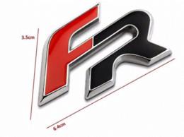 Wholesale Racing Seats Black - 6.4cm*3.5cm FR Metal Car stickers for Seat Leon 2 FR+ Cupra Ibiza Altea Exeo Formula Racing Car Accessories Car Styling