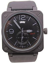Wholesale Steel Dive Case - Top Luxury Brand New Style Men's Automatic Mechanical GMT Date Limited Edition Watch Aviation Men Sport Dive Watch Black Case Wristwatch