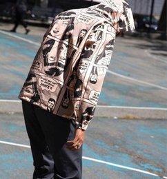 Wholesale Mascot Summer - 2017 Suprem x Thrasher boyfriend jac17SS joint comic coat jacket hip hop clothing Apparel mascot summer dresses