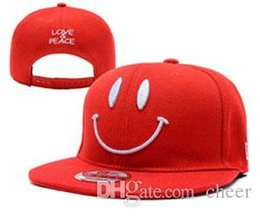 Wholesale Smile Hats - Men's 2017 New Hats Smile Fresh Stitched Fashion Caps Adjustable Hats Drop shipping