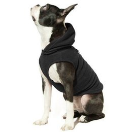 Wholesale Hot Dog Fleece - 2017 Hot Style 6 Colors Fleece Dog Hoodies with Pocket, Cold Weather Spring Vest Sweatshirt with O-Ring