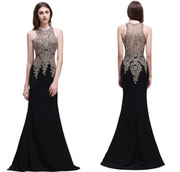 Wholesale Silk Embroidery Pictures - 2018 Designer Occasion Dresses Mermaid Beaded Embroidery Long Evening Gowns Sheer Back Formal Prom Dress CPS525