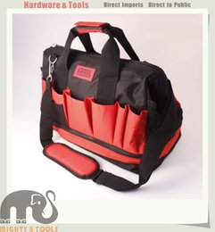 Wholesale Mechanics Tools - X-Steel Large Heavy Duty Tool Bag with Zip Double Layers 39x21x31cm Mechanic