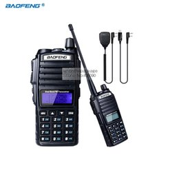 Wholesale Baofeng Radio Mic - Wholesale- Walkie Talkie BaoFeng UV-82 Dual-Band 136-174 400-520 MHz FM Ham Two way Radio Transceiver +NKTECH USB Programming Cable +mic