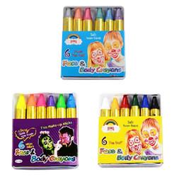 Wholesale Neon Glowing - Body Paint Crayons Pearl Neon Fluorescent Maquiagem Makeup Kids Face Paint Pigment UV Glow Painting 6 Color Set