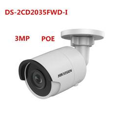 Wholesale Low Light Mini Camera - original english version Hikvision DS-2CD2035FWD-I 3MP POE IR 30M Ultra-Low Light WDR Card slot Mini CCTV Bullet Camera