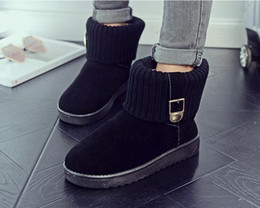 Wholesale Fashion Boots Online - original real leather snow boots for women winter botas warm outdoor sheepskin online outlet girls and woman boots