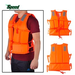 2019 купальные куртки оптом Wholesale- QYQ Life Jackets Adult Polyester Safety Life Jacket Universal Swimming Underwater Drifting Boating Ski Surfing Vest With Whistle дешево купальные куртки оптом
