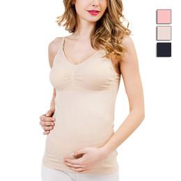 Wholesale Wireless Thin Bras - New Maternity Camisole Comfy Wireless Cami Pregnant Women Tank Tops Breast Feeding Vest Nursing Underwear
