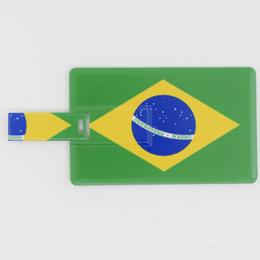 Wholesale Bra Hard - HanDisk Card series BRA National Flag Flash Drive 128MB 1 2 4 16 32 64 128gb Portable Hard Drive Usb Pen Drive EU095