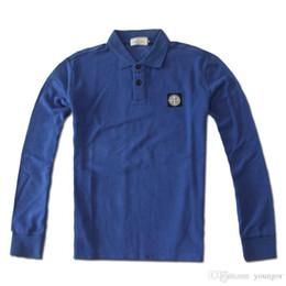 Wholesale T Shirt Stone Island - Stone Sale Cotton Plus Size Men Island long Sleeve T-shirts