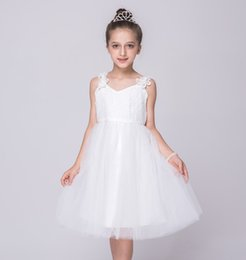 Wholesale Korean Fashion Wholesale Formal - Baby Girl Dress New Halter Dress Flower Big Bow Tutu Skirt Korean Style Summer Fashion Children Kids Clothing