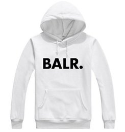 Wholesale Pop Red - 2017 Terry BALR Casual Unisex Hoodies Sweatshirt Cool Hip Pop Pullover Mens Sportwear Coat Jogger Tracksuit Fashion