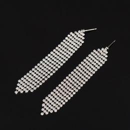 Wholesale Star Shaped Crystal Earrings - 2017 New Crystal Earrings Jewelry Fashion High Quality Lovely Star Shaped Austrian Crystal tassel Earrings for Women #E111