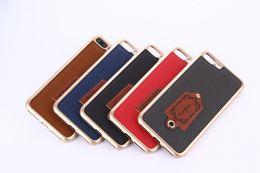 Wholesale Red Carbon Fiber Chrome - Bling Plating Carbon Fiber TPU Soft Case For Iphone 7 Iphone7 I7 6 6S Plus Fashion Chrome Skin Cover Phone Cases 10pcs
