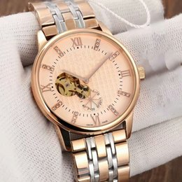 Wholesale women s luxury watches - Europe and the United States Luxury Mens Women Brown Tachymeter Date Leather Sport Fully automatic machine watch Fashion Swiss Design Drop S
