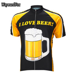 Wholesale Exercise Bicycles - wholesale cycling jersey short sleeve 5 styles of any choice Men's Red Beer cycling clothing bicycle exercise wear ropa