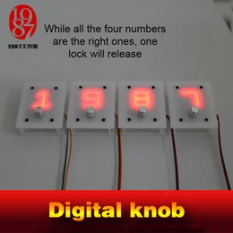 Wholesale Receiver Knobs - Escape room takagism game prop 4 digital knobs rotated to right numbers to unlock with audio jxkj1987