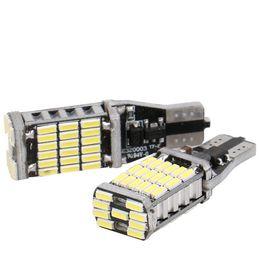 Wholesale 921 Auto Bulb - T15 921 W16W 45SMD 4014 LED Auto Additional Lamp CANBUS NO ERROR auto Lights Car DRL White DC12V no polarity