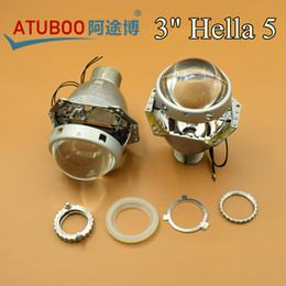 "Wholesale Hid D2h - 2pcs Lot,3.0"" H4 Hella G5 Projector lens for H4 Auto Headlight Using D2H Xenon bulb"