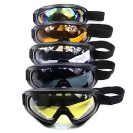 Wholesale Sunglasses Snowboard - HOT Motorcycle Dustproof Ski Snowboard Sunglasses Goggles Lens Frame Eye Glasses