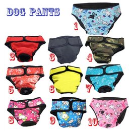 Wholesale Dog Menstrual Pants - Multicolor pet dog clothes Big dog Physiological pants Bitch safe pants Menstrual pants anti pee anti Menstruation free shipping