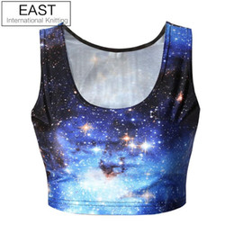 Wholesale Wholesale Women Knit Suits - Wholesale-EAST KNITTING B024 new 2015 New fashion crop top BLUE NANA SUIT TOP print tshirt sexy womens tops Free Shipping